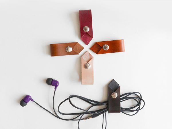 leather cable holders